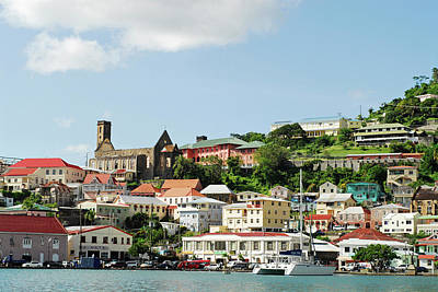 Saint George Photograph - Grenada, St George, Carenage, View by Anthony Asael