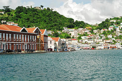 Saint George Photograph - Grenada, St George, View Over Carenage by Anthony Asael