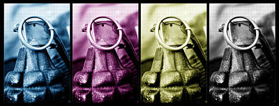 Digital Art - Grenade Cmyk by Fran Riley