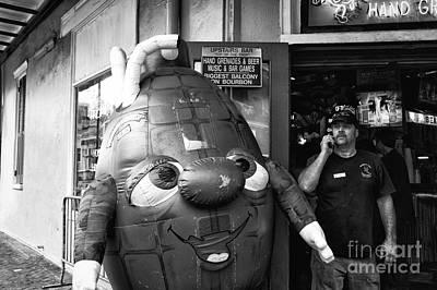 Grenade On Bourbon Street Mono Art Print by John Rizzuto