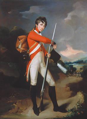 Bayonets Painting - Grenadier Of A Volunteer Regiment by Arthur William Devis