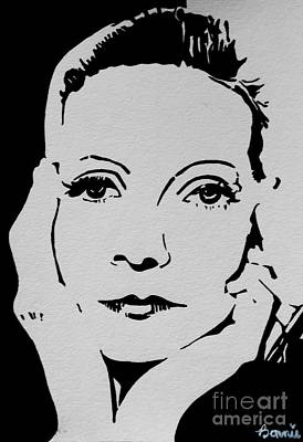 Painting - Greta Garbo #1 by Bonnie Cushman