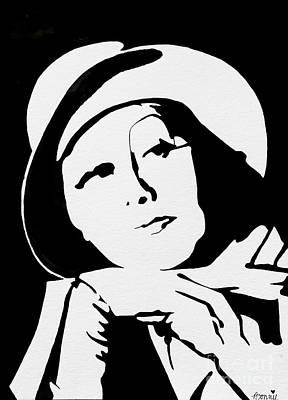 Painting - Greta Garbo #2 by Bonnie Cushman