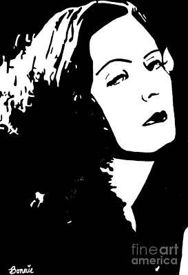 Painting - Greta Garbo #3 by Bonnie Cushman