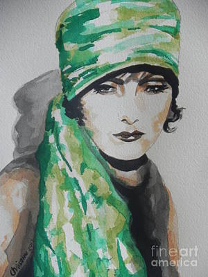 Chrisann Painting - Greta Garbo by Chrisann Ellis