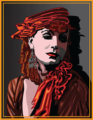 Greta Garbo Hollywood The Golden Age Art Print by Larry Butterworth