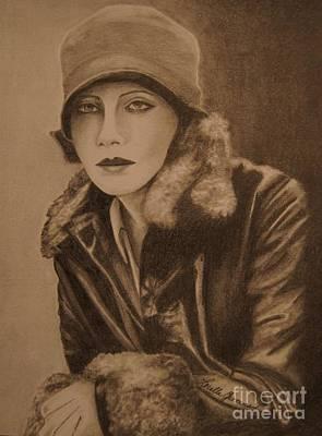 Greta Garbo Art Print by Lorelle Gromus