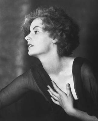 Contemplative Photograph - Greta Garbo Portrait by Arnold Genthe