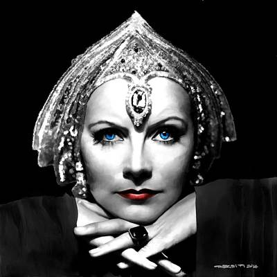 Digital Art - Greta Garbo Portrait by Gabriel T Toro
