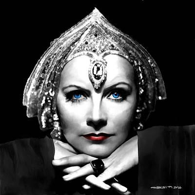 Christina Digital Art - Greta Garbo Portrait by Gabriel T Toro