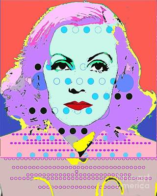 Digital Art - Greta Garbo by Ricky Sencion