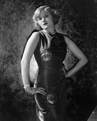 Hand Embroidery Photograph - Greta Nissen Wearing A Dress by Nickolas Muray
