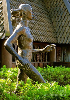Art Print featuring the photograph Grete Waitz Sculpture by Joy Hardee