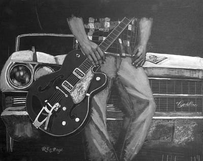 Painting - Gretsch Cadillac by Richard Le Page