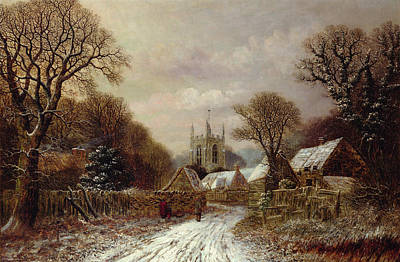 Gretton In Northamptonshire Art Print by Charles Leaver