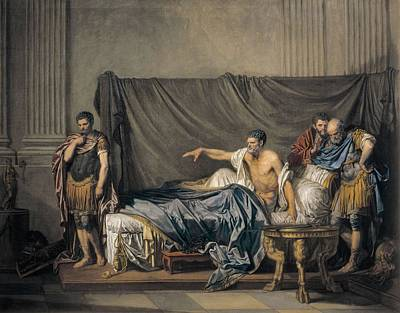 Greuze, Jean Baptiste 1725-1805 Art Print by Everett