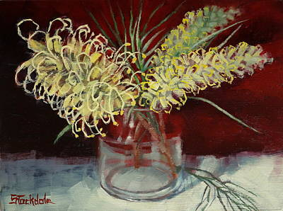 Painting - Grevillea Still Life by Margaret Stockdale