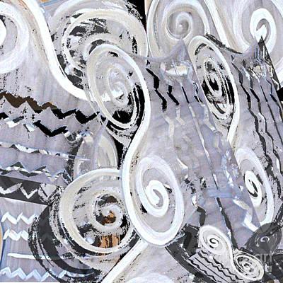 Digital Art - Grey Abstraction 1 by Eva-Maria Becker