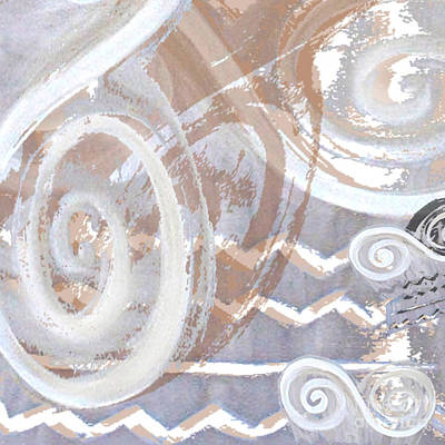 Grey Abstraction 2 Art Print
