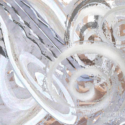 Digital Art - Grey Abstraction 3 by Eva-Maria Becker