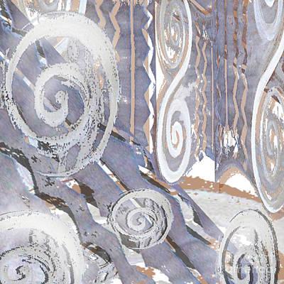 Grey Abstraction 4 Art Print by Eva-Maria Becker