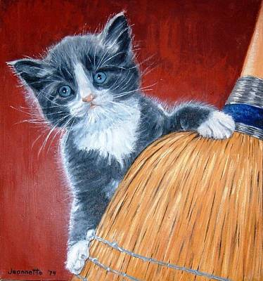 Painting - Grey And White Cat by Jeannette Tramontano
