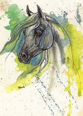 Grey Arabian Horse B 04 11 2013 Original by Angel  Tarantella