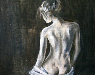 Grey Back Art Print by Meredith Oneal
