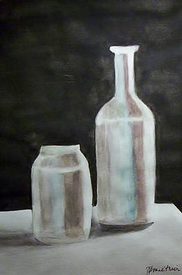 Painting - Grey Bottles by Jamie Frier