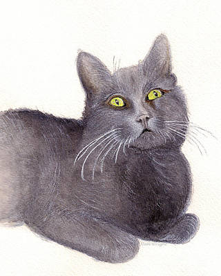 Grey Cat Original by Nan Wright
