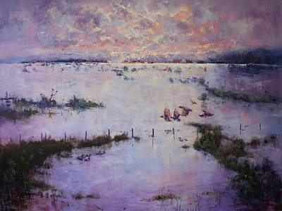 Floods Painting - Grey Clouds Gather by Marie Green