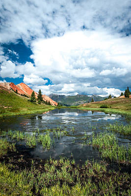 Art Print featuring the photograph Grey Copper Gulch by Jay Stockhaus