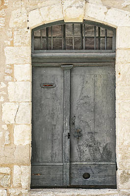 Grey French Door Art Print