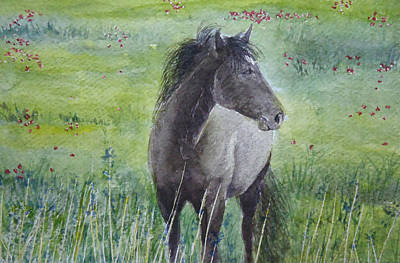 Painting - Grey Horse by Mickey Raina