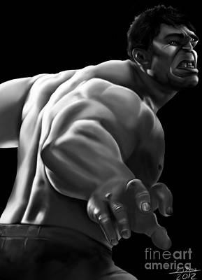 Grey Hulk Art Print