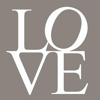 Grey Love Art Print