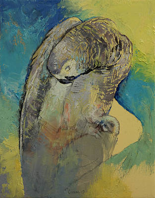 Nature Abstract Painting - Grey Parrot by Michael Creese
