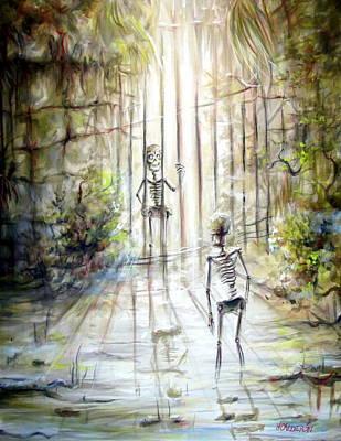 Grey Skeleton Gate Original by Heather Calderon