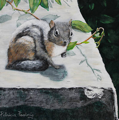 Chipmunks Painting - Chipmunk by Patricia Pasbrig