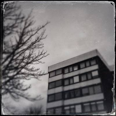 House Photograph - Grey Urban Architecture by Matthias Hauser