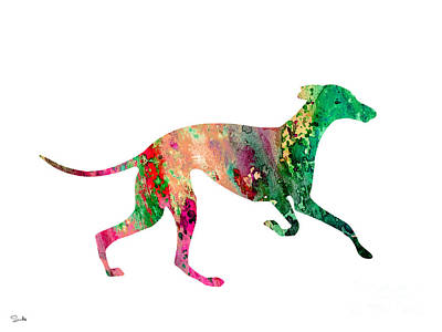 Painting - Greyhound 2 by Watercolor Girl
