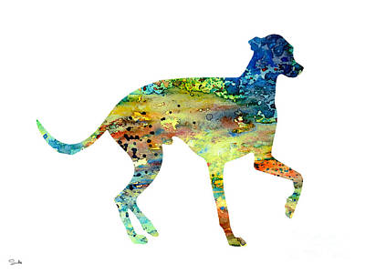 Painting - Greyhound 3 by Watercolor Girl