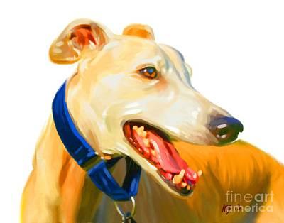 Buy Dog Art Digital Art - Greyhound Art by Iain McDonald