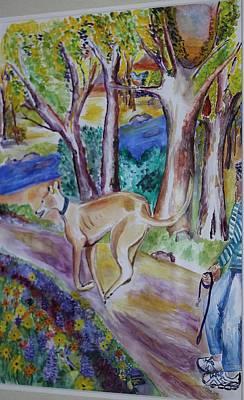 Greyhound At The Dog Park Original
