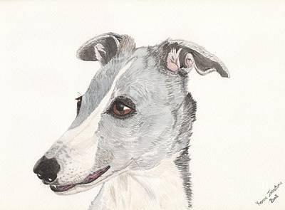 Painting - Greyhound Blue by Yvonne Johnstone