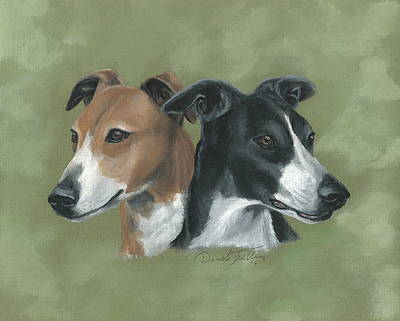 Greyhound Races Painting - Greyhound by Daniele Trottier