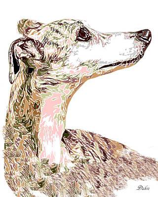 Greyhound Earnest Art Print by Dalon Ryan