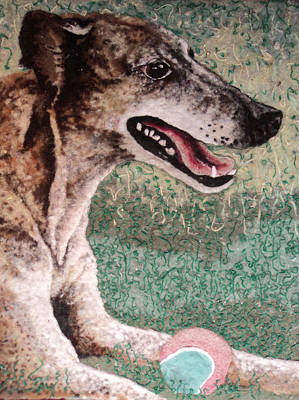 Greyhound Mixed Media - Greyhound by Heidi Hooper