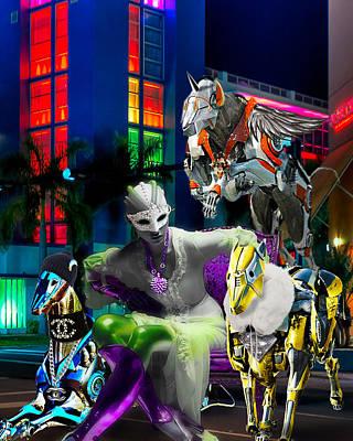 Greyhound Digital Art - Greyhound Princesse by Jean raphael Fischer