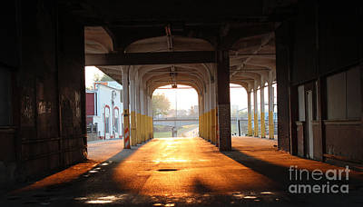 Old Bus Stations Photograph - Greyhound Sunset by Howard Tenke